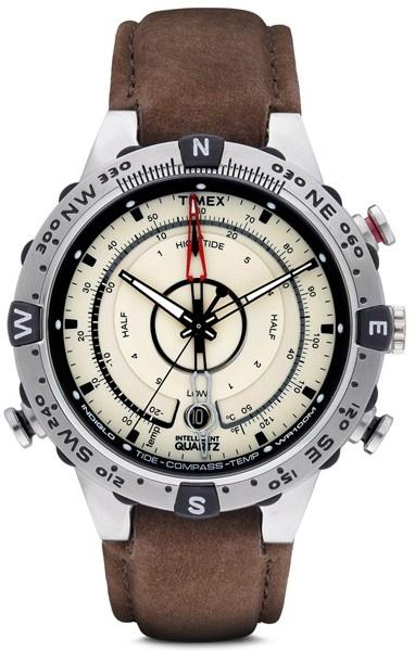 Hodinky Timex Intelligent Quartz Tide Temp s kompasem stř. hnědá 9553779b24c