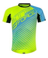 Dres FORCE MTB ATTACK, fluo modrý