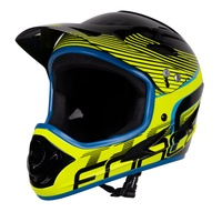 Přilba FORCE TIGER downhill, černo-fluo