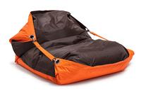 Sedací pytel OMNIBAG Duo s popruhy Fluorescent Orange-Chocolate 191x141