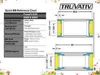 Osa Truvativ GXP Team PressFit adapter MTB BB92