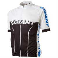 Dres GIANT Road Perf Jersey SS white/black/blue